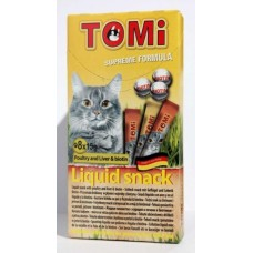 """TOMI"" лакомство-соус для кошек 8шт*15гр. домашняя птица + биотин"
